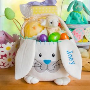 The Personalized Easter Basket - a bulbous bunny capable of holding eggs, toys, and other Easter treats