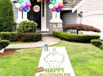 The Birthday Lawn Stencil Kit