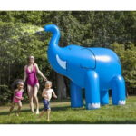 The 7 Foot Tall Water Spraying Pachyderm - An inflatable elephant that sprays water from its trunk