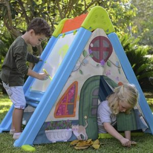 The Climb Draw and Play Fort Set - encourages physical activity, creative imagination, and pretend play