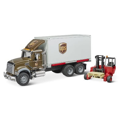 The UPS Working Truck And Forklift 1
