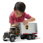 The UPS Working Truck And Forklift - The Mack UPS truck and forklift with realistic moving components