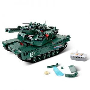 The Build Your Own RC Tank - a remote controlled tank where kids can construct from its included interlocking plastic pieces
