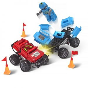 The Crash And Rebuild Monster Trucks - The remote controlled monster trucks children construct and then crash into one another