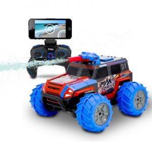 The Live Streaming Squirting RC Truck - A radio-controlled monster truck that streams two ways