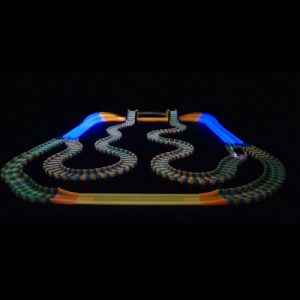 The Award Winning Glow In The Dark Racetrack - A flexible glow-in-the-dark racetrack that can be reconfigured while a race is in progress