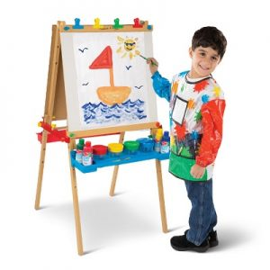 The Child's Personalized Art Easel Set - Your kids perfect art set complete with all the supplies needed
