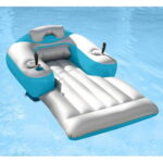 The Motorized Pool Float - An inflatable lounger allows you to maneuver around your pool without paddling