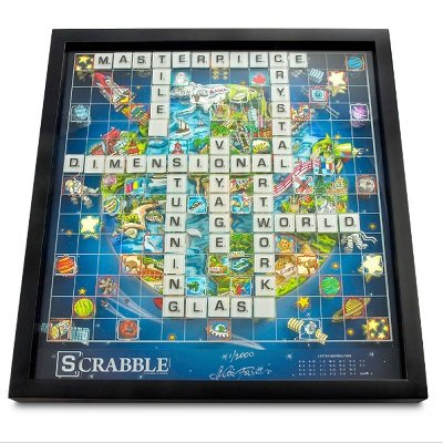 The Pop Art 3D Glass Scrabble 1