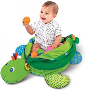 The Personalized Turtle Ball Playpen - A personalized plush turtle that allows kids to play games and explore colors, textures and sounds