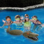 The Pool Guarding Gator - A faux alligator that compels unwanted pool visitors to think twice before swimming