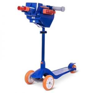 The Nerf Launching Scooter - a unique kick scooter with built-in foam dart launcher