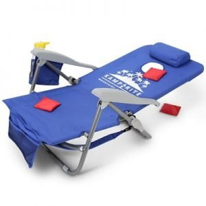 The Backpack Cornhole Toss Chairs - set of lawn chairs that fold flat for a game of cornhole