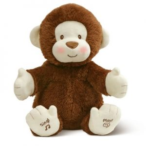 The Clapping Singing Monkey - delights babies and kids with his happy, clapping singing and playing performances