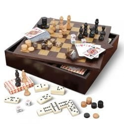 The Complete Classic Board Game Compendium - A hardwood coffee table box that stores eight classic board games