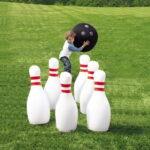 The Giant Inflatable Bowling Game - challenges kids to have some bowling game anywhere