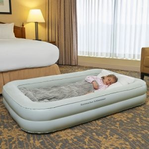 The Child's Portable Bed - with raised sides designed to help a child from rolling out