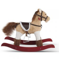 The Realistic Rocking Horse for Kids - With huggable plush-fabric coat, realistic mane and plumy tail