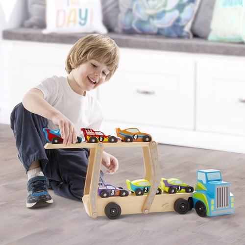 Personalized-Wooden-Race-Car-Set