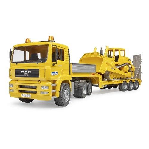 Caterpiller-Bulldozer-Low-Loader-Truck