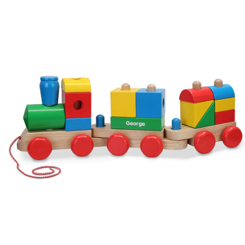 Personalized Wooden Stacking Train