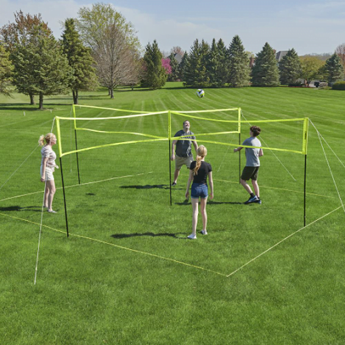Four Square Volleyball Badminton Game